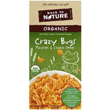 Back to Nature Organic Crazy Bugs Macaroni & Cheese Dinner, 6 oz, (Pack of 6)