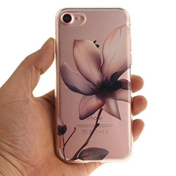 Urberry Iphone 7 Case, 3d Blossom Lotus Print Case for 4.7 inch Iphone 7 with a Free Screen Protector