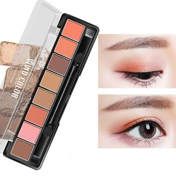 Urberry 8 Colors New Fresh Cosmetic Powder Eyeshadow Palette Makeup Set