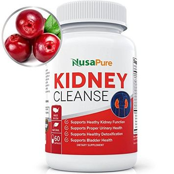Kidney Cleanse (Vegetarian & Gluten Free) Detox & Support for Urinary Tract, Bladder and Kidneys - Natural Herbal Supplement Formula with Organic Cranberry, Astragalus, Turmeric