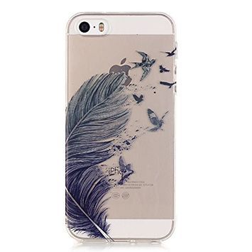 Urberry Iphone SE Case, Iphone 5 Case, Iphone 5S Case, Shock-proof Hihg Clear Case with a Screen Protector