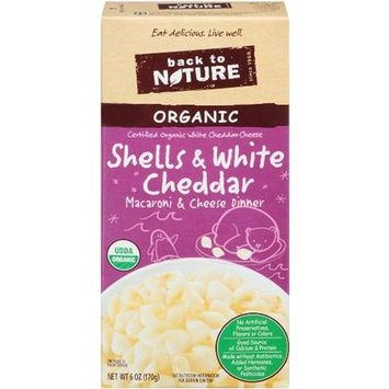 Back To Nature Organic Shells & White Cheddar Dinner, 6-Ounce Boxes (Pack of 12)