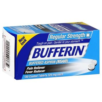 Bufferin Regular Strength Asperin Tablets 130 ct