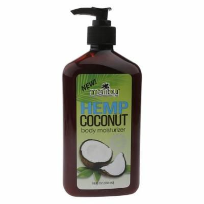 Malibu Malilbu Tan Hemp & Coconut Body Moisturizer, 18 fl oz