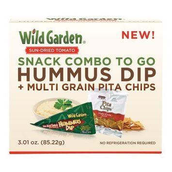 Wild Garden Traditional Hummus Dip + Multigrain Pita Chips (Pack of 6)