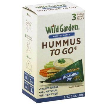 Wild Garden Roasted Garlic Hummus To Go, 1.76 oz (pack of 9)