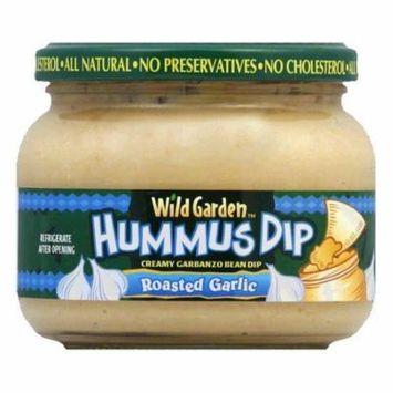 Wild Garden Roasted Garlic Hummus Dip, 13.4 OZ (Pack of 6)