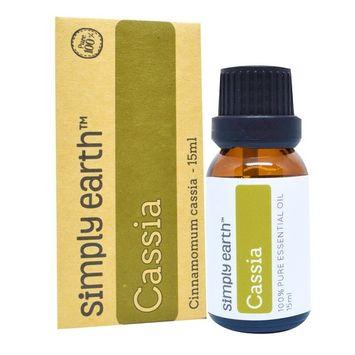 Simply Earth Cassia Essential Oil, 100% Pure Therapeutic Grade - 15 ml