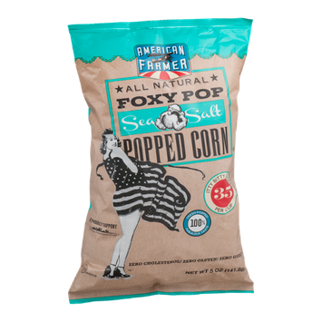 American Farmer Foxy Pop Popped Corn Sea Salt