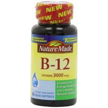 Nature Made Vitamin B-12 Softgels, 3000 Mcg, 60 CT (PACK OF 3)