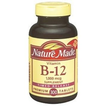 Nature Made Vitamin B-12 1,000 mcg Time Release - 300 Tablets