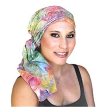 Turban Diva-103-39 Batik Turban Set-First Kiss Floral
