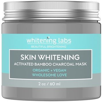 Skin Whitening Cream Mask. Activated Bamboo Charcoal Mask for Face Hands Body. Use for Dark Spots Age Spot Corrector Remover 2 Ounce