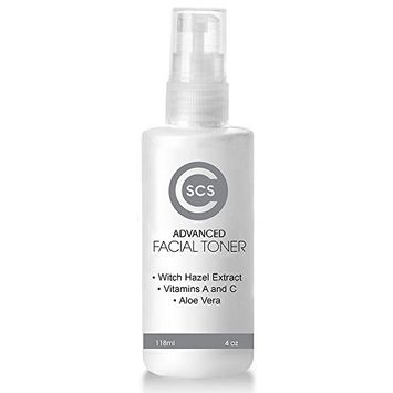 CSCS Vitamin C Face Toner Spray with Witch Hazel Alcohol Free – Anti-Aging Facial Treatment for Dry and Oily Skin – Face Primer and Pore Minimizer - 4 oz