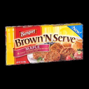 Banquet Brown 'N Serve Maple Sausage Patties - 8 CT