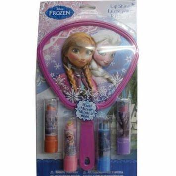 Disney Girls Frozen Character Design Lip Balm Hand Mirror Set