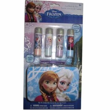 Disney Girls Frozen Anna Elsa Olaf Lip Balm & Tin Cosmetic Accessory