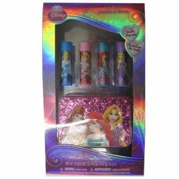 Disney Girls Princess Design Fruity Flavor Lip Balm Set