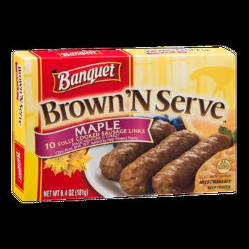 Banquet Brown'N Serve Sausage Links Maple - 10 CT