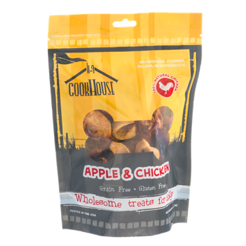 K-9 Cookhouse Gluten and Grain Free Dog Treats Apple & Chicken