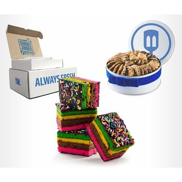 Fresh Baked Rainbow Cookies   Gimmee Jimmy's Cookies- 2 Pounds of Authentic Rainbow Cookies in a Beautiful Gift Tin