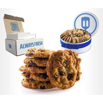 Fresh Baked Oatmeal Raisin Cookies   Gimmee Jimmy's Authentic Cookies- 4 Pounds of Beautiful Cookies in a Perfect Gift Tin