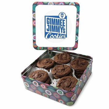 Gimmee Jimmy's Cookies Famous Double Chocolate Chip Cookies 2 Pounds- Gimmee Jimmy's Gourmet Cookie Tins