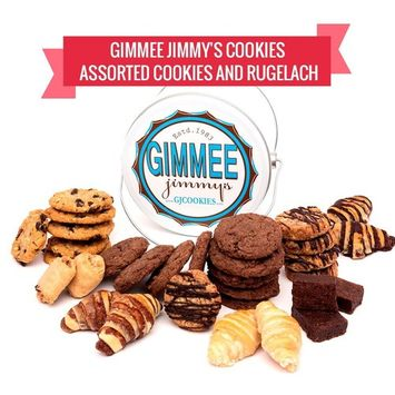 2lb Tin of Assorted Fresh baked Cookies from Gimme Jimmys Cookies