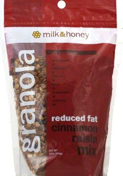 Milk & Honey Granola Milk Honey Granola 01786 Milk Honey Granola Cinnamon Raisin Mix#44; RF 12x16 Oz