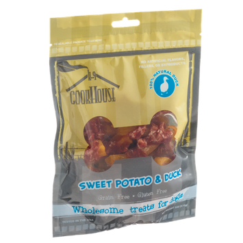 K-9 Cookhouse Gluten and Grain Free Dog Treats Sweet Potato and Duck