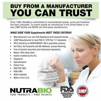 NutraBio Vitamin B-6 250 mg 120 Vegetable Capsules