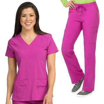 Med Couture Activate Refined V-Neck Top & High Definition Cargo Pant Scrub Set[XS - 3XL] + Free Gift + FREE SHIPPING
