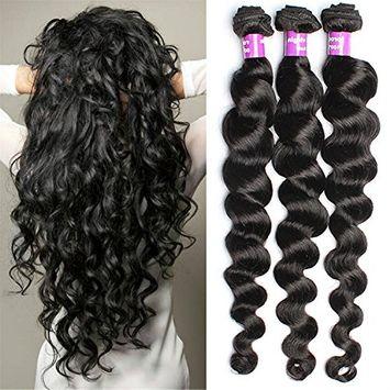 6A Brazilian Virgin Hair 3 Bundle 50G/Pcs Loose wave Human Hair Virgin Hair Extension Unprocessed Brazilian Virgin Hair by KeepYonger []