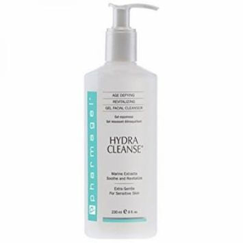 Pharmagel Hydra Cleanse Water Rinseable Facial Cleanser for All Skin Types, 8 Ounce