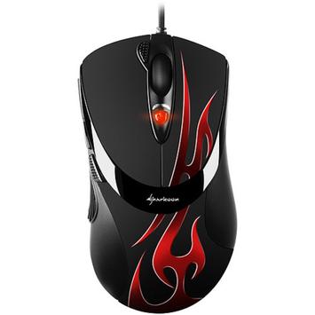 Sharkoon 000SKFGO FireGlider Optical Mouse, Black