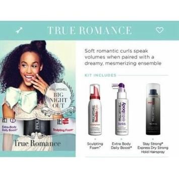 Paul Mitchell Big Night Out True Romance