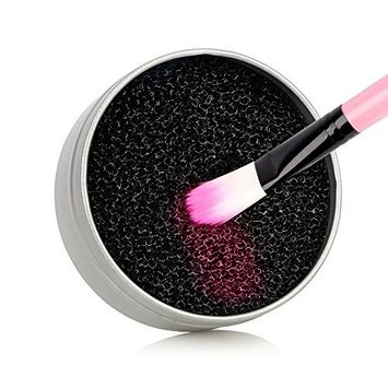 MS.DEAR Color Removal Sponge - Dry Makeup Brush Quick Cleaner Sponge - Removes Shadow Color from Your Brush without Water or Chemical Solutions - Compact Size for Travel