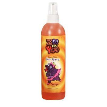 Zoo On Yoo Happy Hippo Kid's Hairspray - Orange 12 Oz Hair Spray Super H