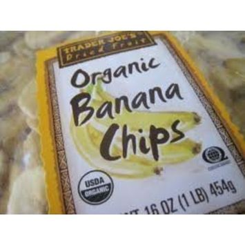 Trader Joe's Organic Banana Chips 16 Oz. (Pack of 3)