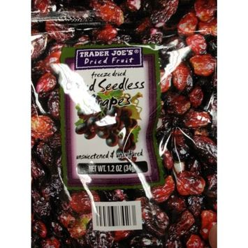Trader Joe's Freeze Dried Red Seedless Grapes Unsweetened & Unsulfured 1.2oz