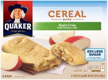 Quaker® Apple Crisp Cereal Bars 8 ct Box