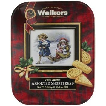Walkers Pure Butter Assorted Shortbread Cookie, 58.4 Ounce