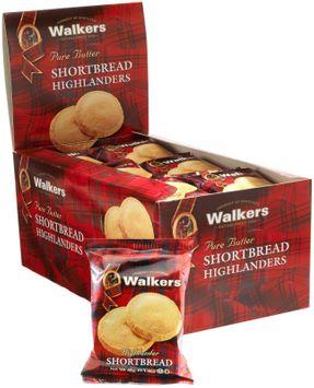 Walker's Walkers Shortbread Highlanders Shortbread Twin Pack, 1.4 oz, 24 pk