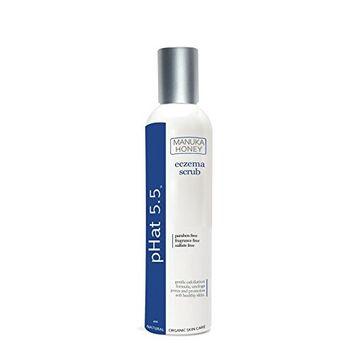 Eczema Skin Care Treatment Scrub by pHat 5.5 (64 oz) Gentle Exfoliator for Sensitive Skin with Manuka Honey & Aloe Vera - No Cutting Shell