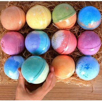 12 Bath Bombs Gift Set Super Large 5oz Each Best Gift Ideas for Women Teen Girls and Kids Handmade with Natural Vegan Shea & Cocoa Butter Spa with Fizzies...