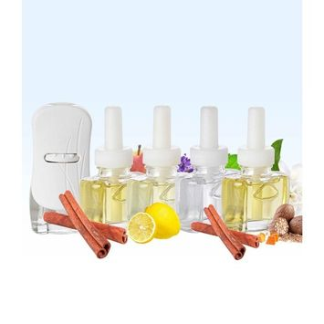 (4 Pack) 4 Scent Fill® Fall Scents (1 Each): Relax Blend, Cinnamon Apple, 100% Natural Fresh Peppermint, Sweet & Spicy Cinnamon Nutmeg and (1) Glade® PlugIn Warmer: Health & Personal Care