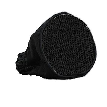 Homyl Salon Home Travel Use Canvas Black Universal Hair Dryer Sock Diffuser Blower Cover FOLDABLE AND PORTABLE