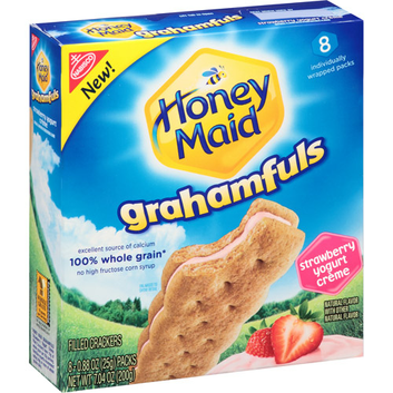 Nabisco Honey Maid Grahamfuls Strawberry Yogurt Creme Filled Crackers
