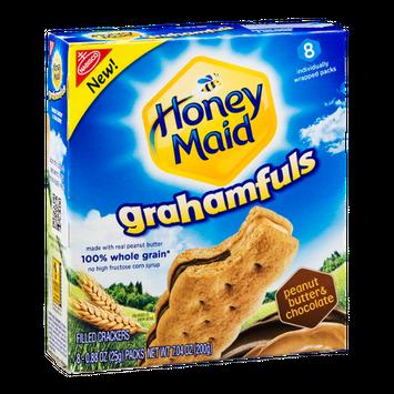 Nabisco Honey Maid Grahamfuls Filled Cracker Packs Peanut Butter & Chocolate