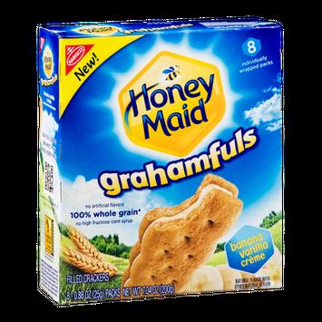 Nabisco Honey Maid Grahamfuls Filled Cracker Packs Banana Vanilla Creme